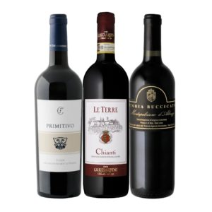 Italian Red Classics: Chianti, Primitivo, Montepulciano Mixed Case