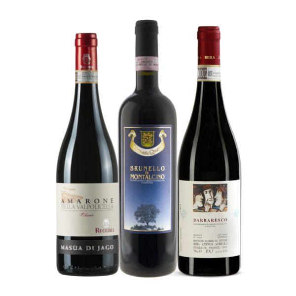 Italian Premium Case: Brunello, Barbaresco, Amarone