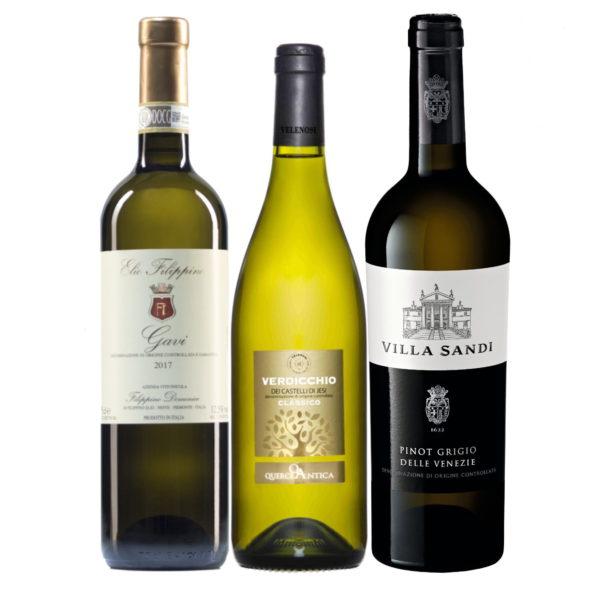 Mixed whites case: Pinot Grigio, Gavi, Verdicchio