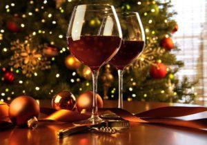 Christmas wine and food. Blog article